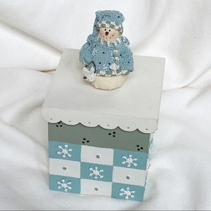 Plum Pudding Snowmen by Heather Hykes trinket box